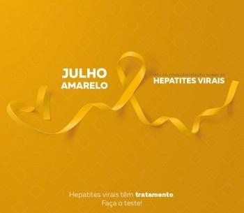 Julho Amarelo - Mês de Conscientização sobre as Hepatites Virais